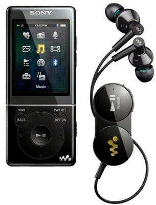 Sony NWZ-S774BT + Bluetooth-наушники (черный)