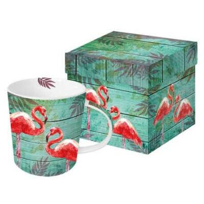 Кружка в подарочной коробке Summer Flamingos 350 мл