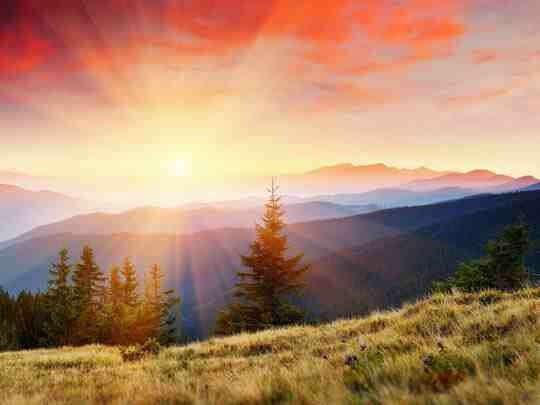 Встретить рассвет на природе
