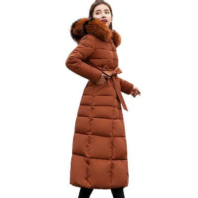 1707.17руб. 53% СКИДКА|X Long, Новое поступление 2019, Модная приталенная женская зимняя куртка с хлопковой подкладкой, теплое плотное Женское пальто, длинное пальто, парка, женские куртки-in Парки from Женская одежда on AliExpress