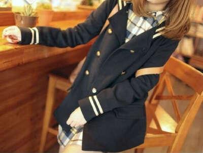 Пальто с морским воротником