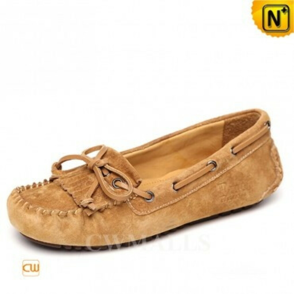 CWMALLS® Designer Fringe Leather Loafers CW306025