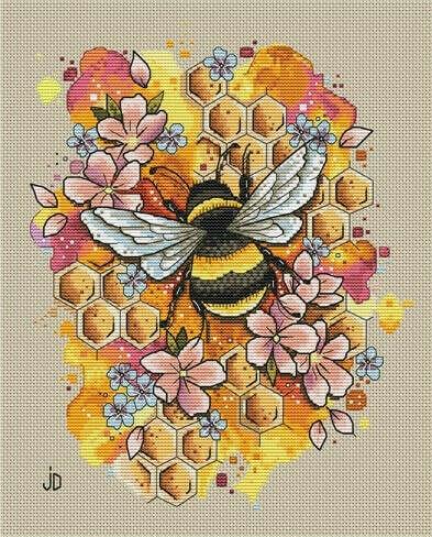 """Авторская схема вышивки """"Пчелка"""""""