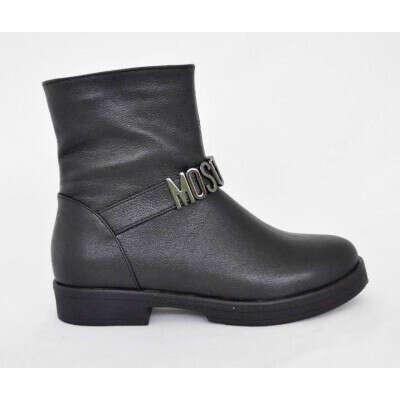 Ботинки olli 43-2450 Кожа черная