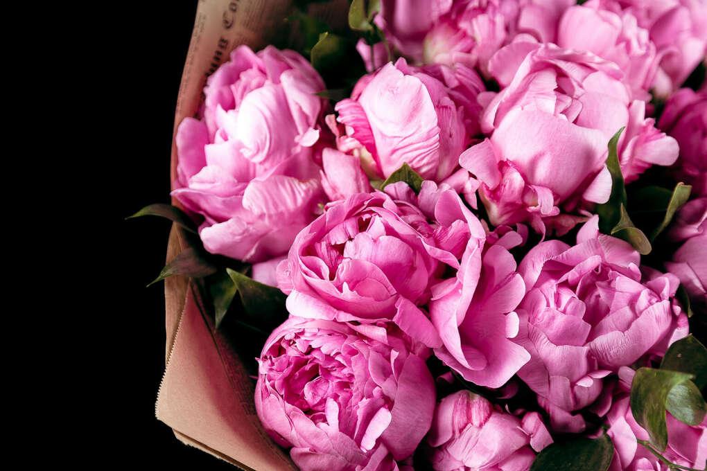 Букет пионовидных роз без повода