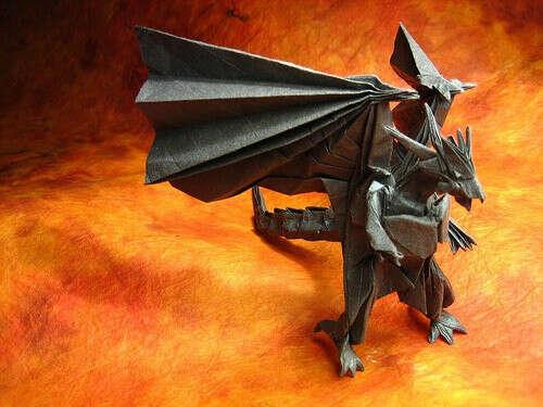Сделать коллекцию оригами драконов