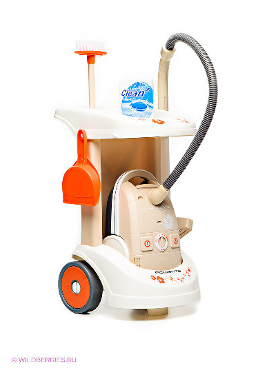 Тележка для уборки с пылесосом Smoby