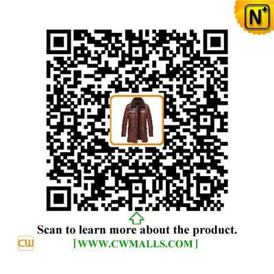 CWMALLS® Denver Mens Leather Down Jacket Coat CW817002