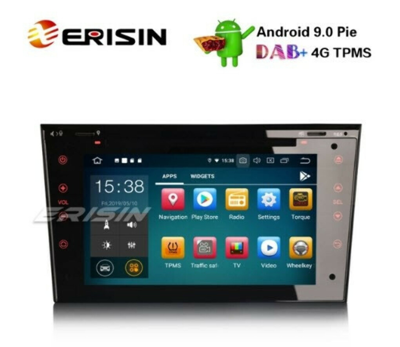 "Erisin ES7973P-64 7"" Android 9.0 Opel Vauxhall Corsa Vectra Zafira Astra Car Stereo DAB+GPS CD Satnav - Erisinworldwide"