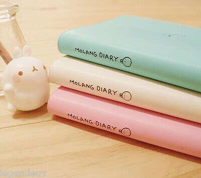 Molang Diary Planner Journal Scheduler Organizer Agenda Cute Rabbit Kawaii