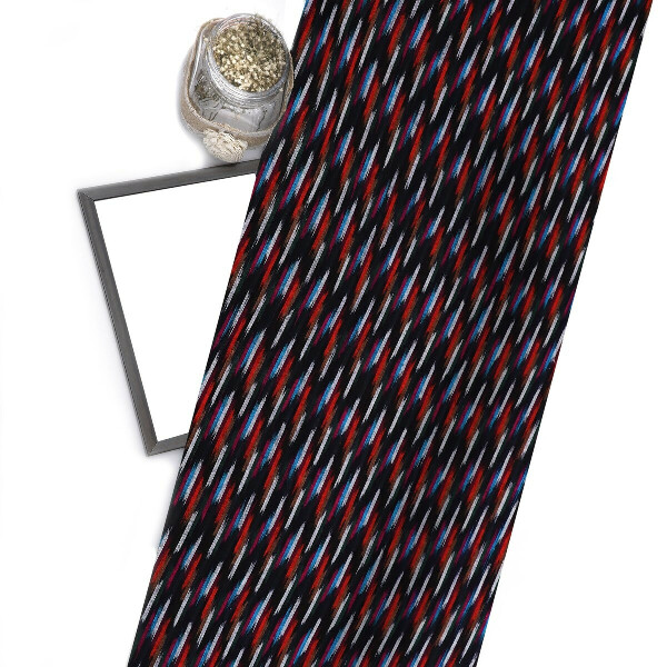 Multicolor Ikat Cotton Fabric