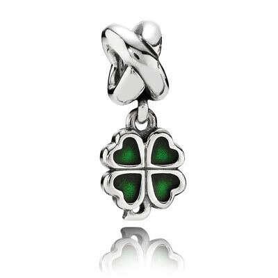 PANDORA | Подвеска-шарм Зеленый Четырехлистный клевер