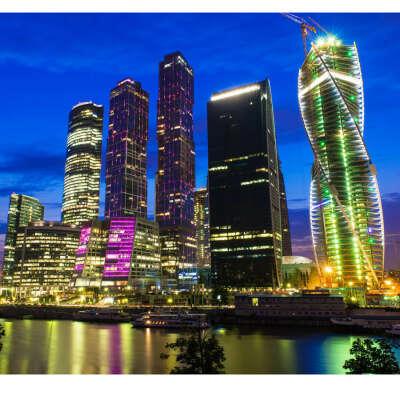 Вечерняя обзорка Москва-Сити