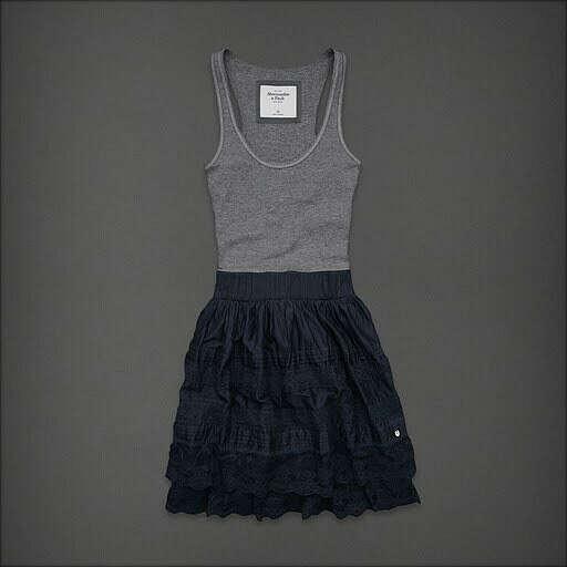 Платье с кружевной юбкой и трикотажным топом
