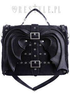 """Bat Wings Bag"" gothic satchel, black briefcase, diabolical, devil"