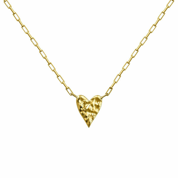 aristocrazy gold-plated-heart-motif-necklace