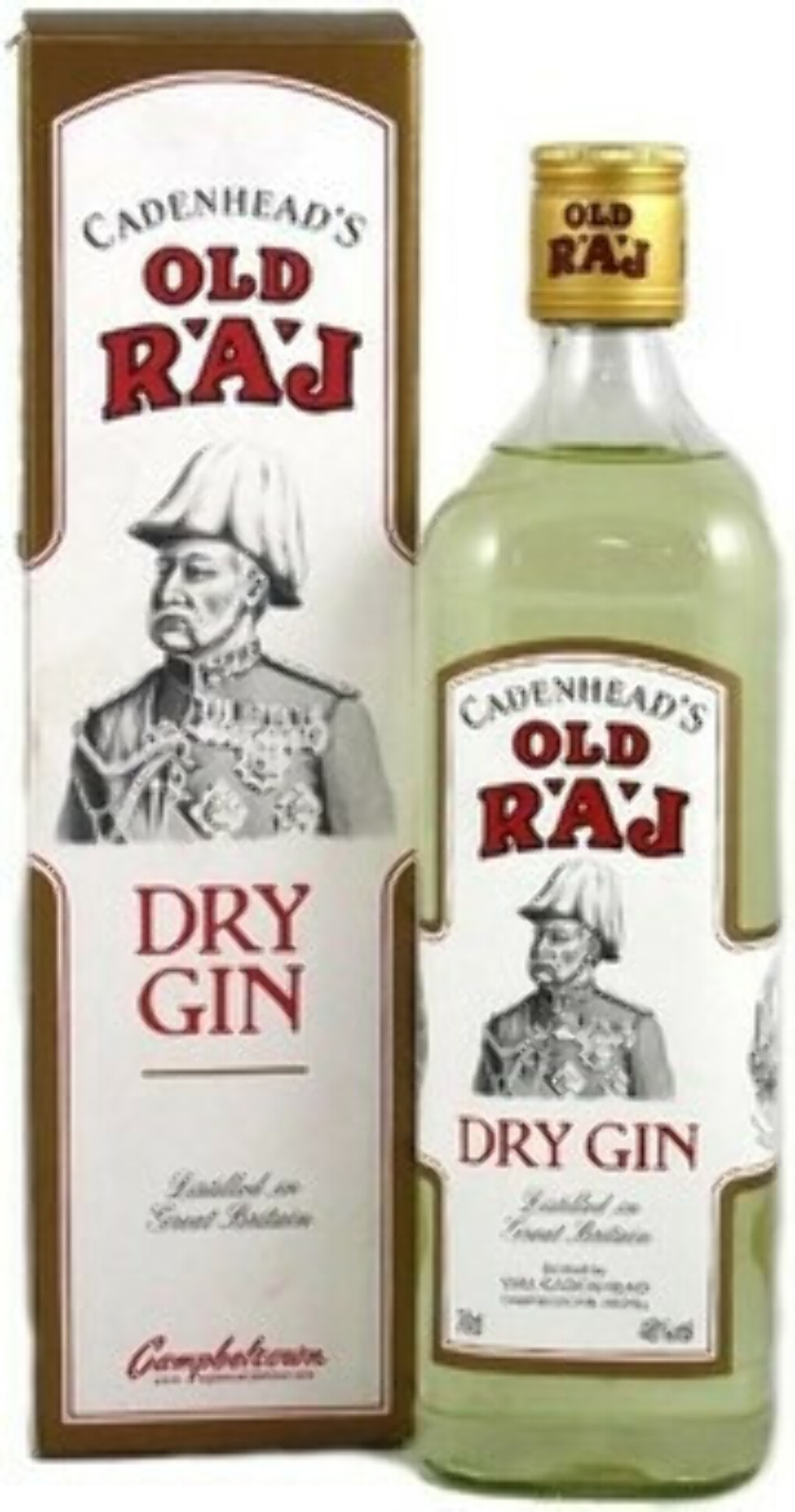 "Cadenhead, ""Old Raj"" Dry Gin (Red Label), gift box, 0.7 л"