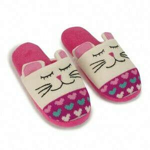 Тапочки домашние вязаные Animal «Кошки»