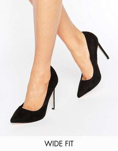 Туфли для широкой стопы на каблуке с острым носком ASOS PLAYFUL at asos.com