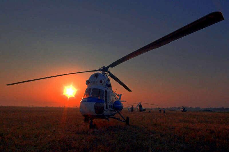 Полёт на вертолёте