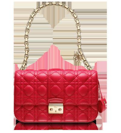 "Rouge Vif leather ""Miss Dior"" bag"