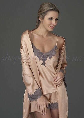 Шелковый халат и пижамка