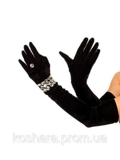 Длинные бархатные перчатки