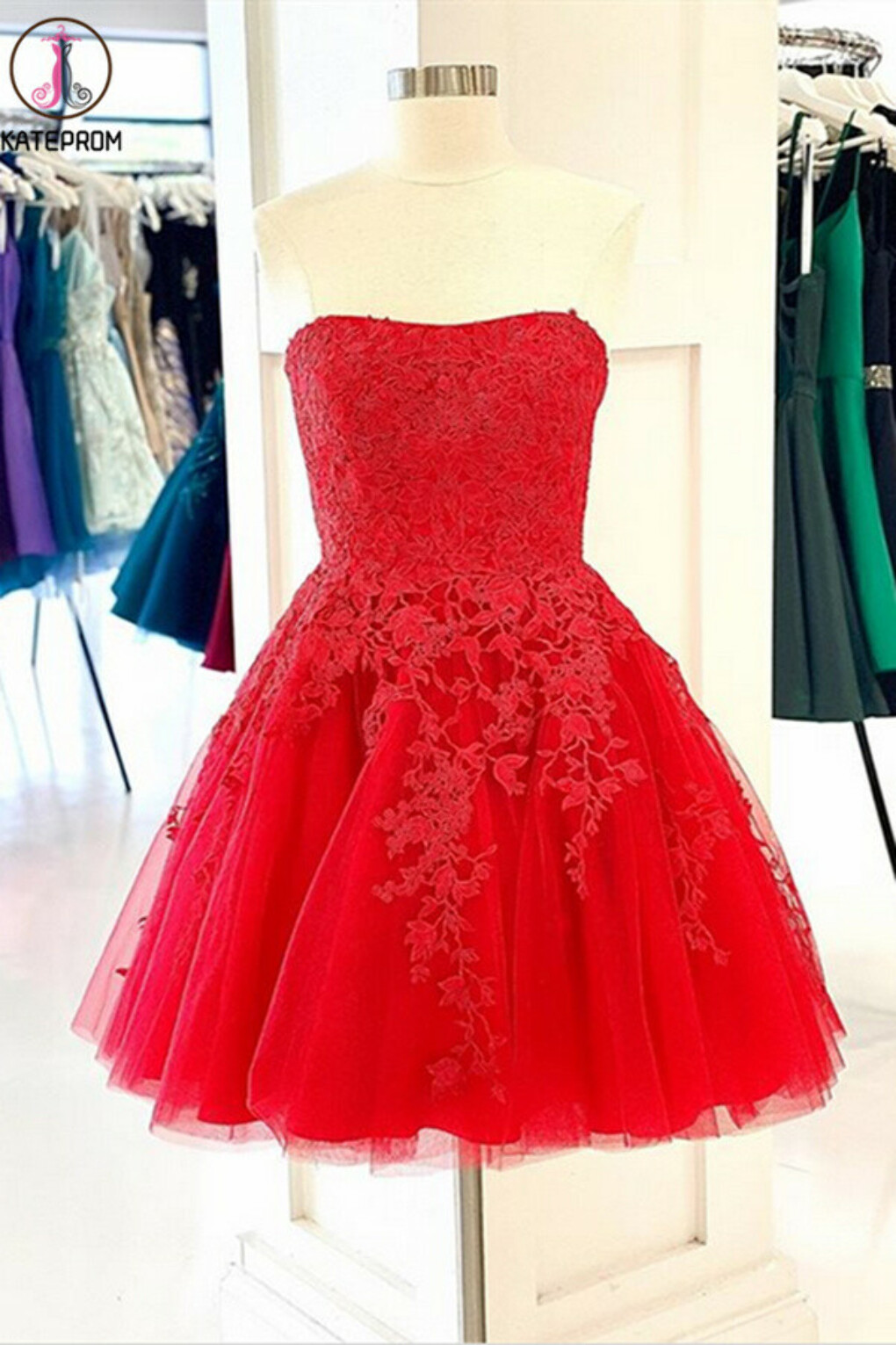 Red New 2021 Kateprom Short Prom Dresses Homecoming Dresses online KPH0534