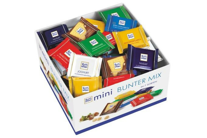 Все шоколадки Ritter Sport (mini)
