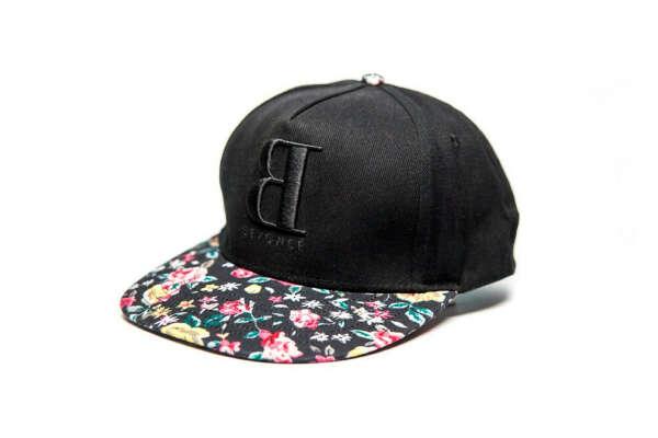 BACKWARD B FLORAL BRIM CAP