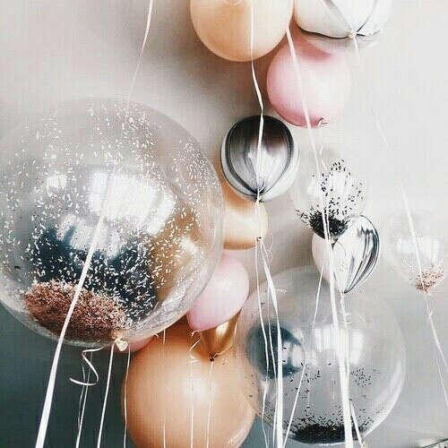 шарики с конфетти! ^^