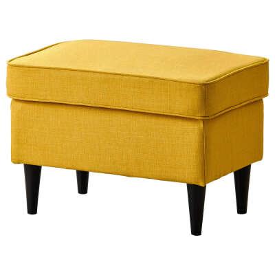 СТРАНДМОН Табурет для ног, Шифтебу желтый - IKEA