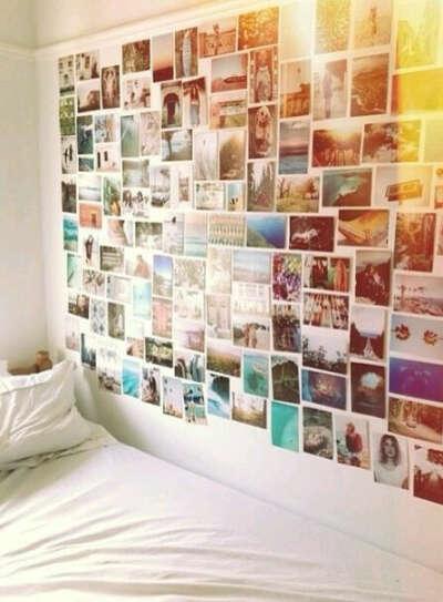 Коллаж на стене