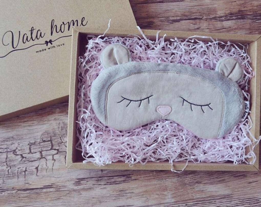 Маска для сна Мишка. мех, фланель | «Ламбада-маркет»