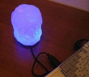 Соляная USB лампа «Скала»
