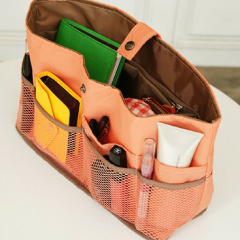 Органайзер для сумки Bag In Bag L (разные цвета) / Лососёвый