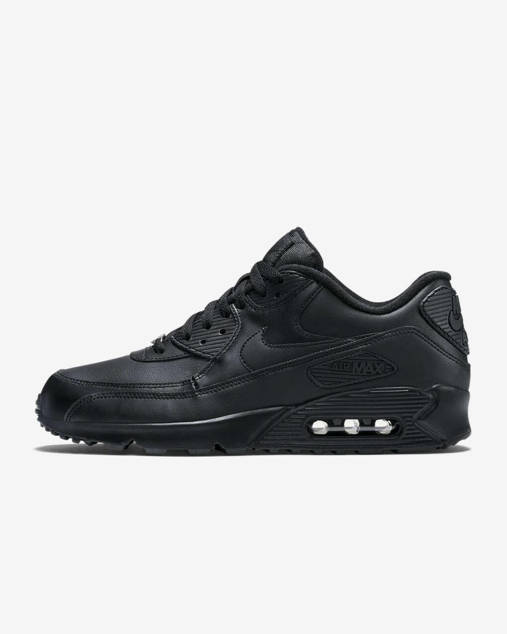 Черные Nike Air Max 90 Leather
