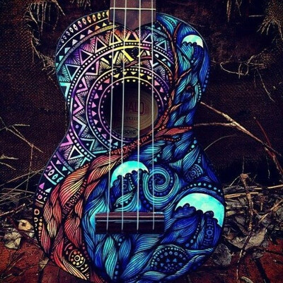 Раскрасить гитару
