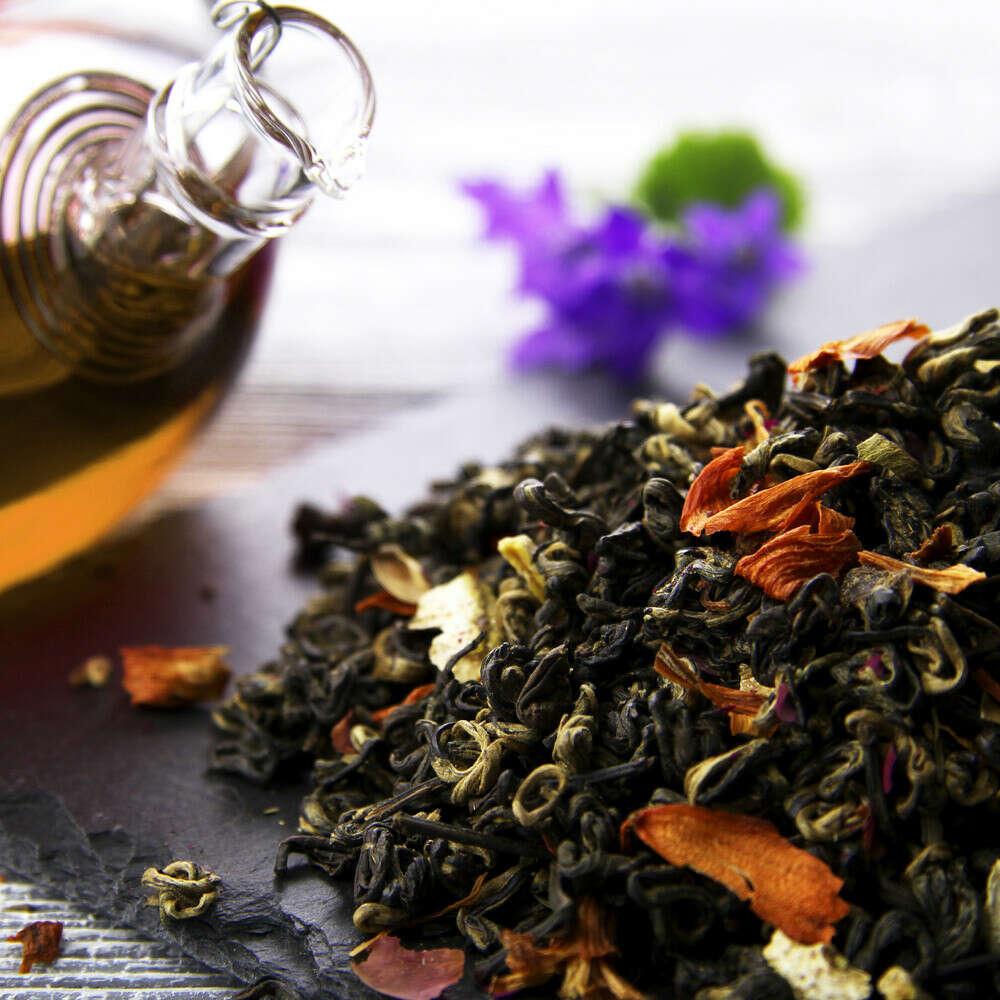 Чай рассыпной (черный с добавками/просто улун)