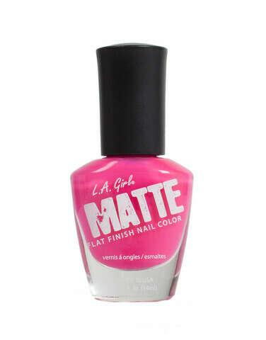 LA GIRLS NAIL POLISH MATTE - NEON FUCHSIA