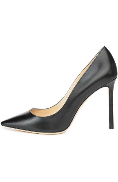Женские черные кожаные туфли romy 100 на шпильке JIMMY CHOO — купить за 42300 руб. в интернет-магазине ЦУМ, арт. R0MY 100/KID