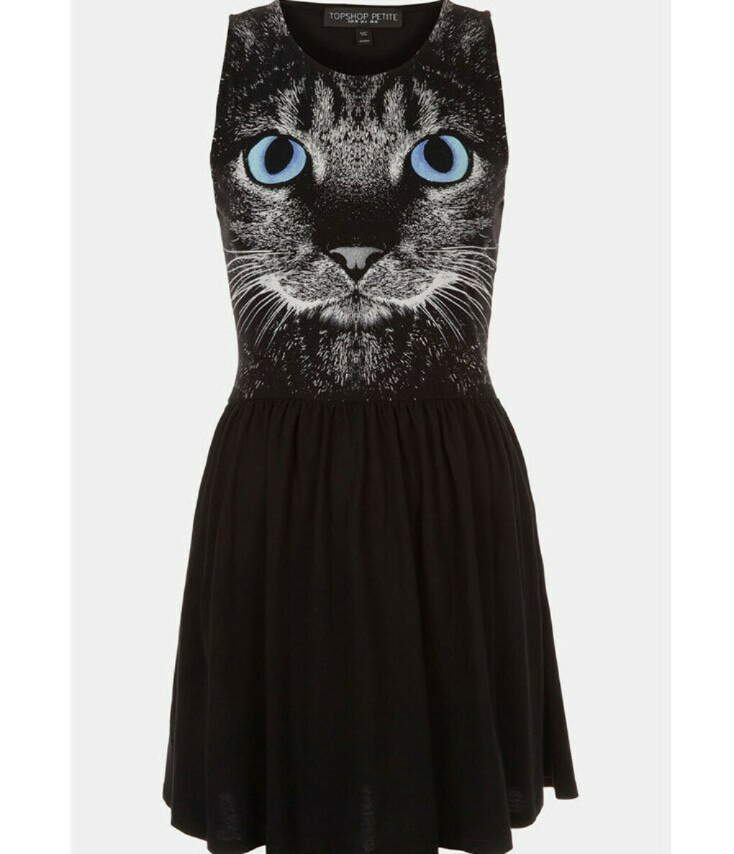 Платье с котом
