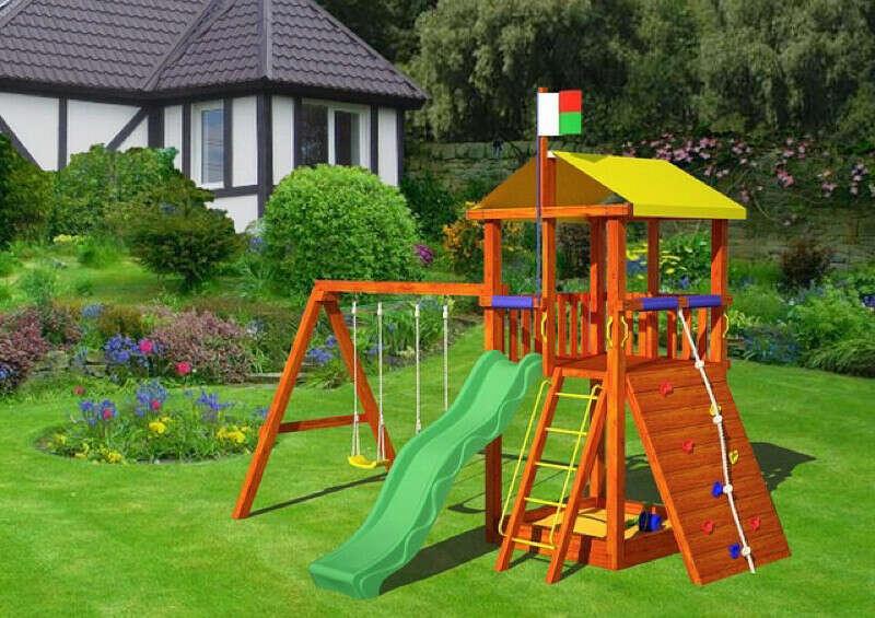 Детский игровой комплекс на территории своего дома