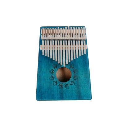 Калимба синяя 17 нот с чехлом и молоточком для настройки