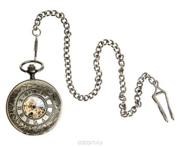 """Часы карманные на цепочке в стиле стимпанк (Steampunk). Металл """"Старое золото"""", золочение, кварцевый часовой механизм. Pacifistor, Великобритания, конец ХХ века"""
