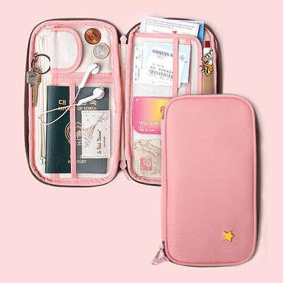 Холдер для документов 'Travel Pouch'  / Нежно-розовый