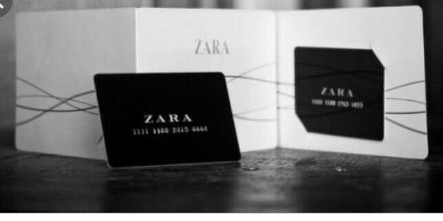 Подарочный сертификат в Zara
