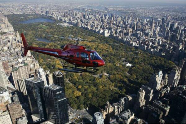 Пролететь на вертолете над Нью-Йорком