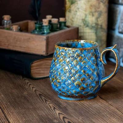 Драконовая чашка ручной работы