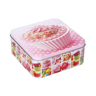 Коробка для сладостей жестяная 15х15х6см Q00520036